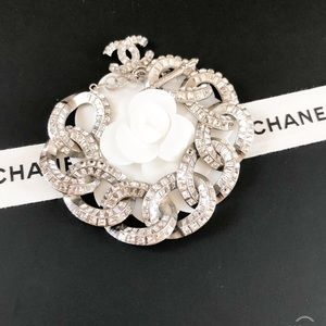 CHANEL Jewelry - Chanel Strass Crystal Curb Chain Link Bracelet